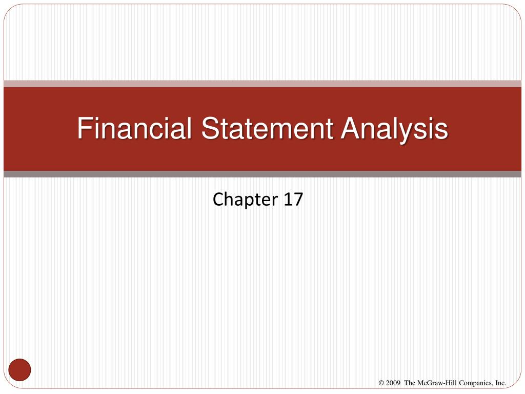 financial statement analysis l.