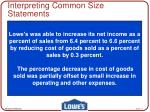 interpreting common size statements11