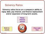 solvency ratios