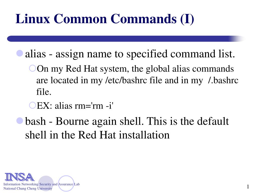 linux common commands i l.