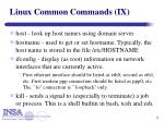 linux common commands ix