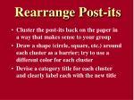 rearrange post its