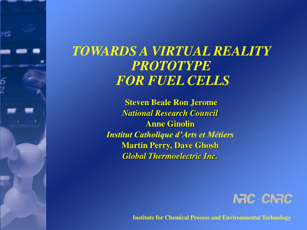 towards a virtual reality prototype for fuel cells l.