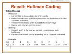 recall huffman coding