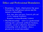 ethics and professional boundaries