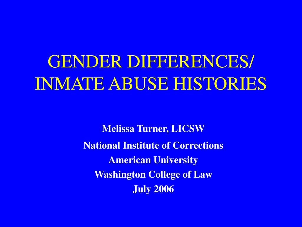 gender differences inmate abuse histories l.