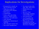 implications for investigations15
