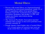 mental illness14