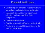 potential staff issues19