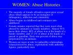 women abuse histories