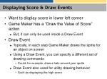 displaying score draw events