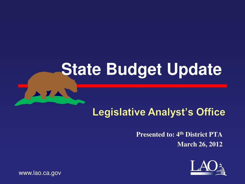 state budget update l.