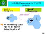 mobility management in w atm networks
