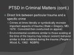 ptsd in criminal matters cont16
