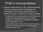 ptsd in criminal matters