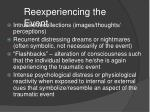 reexperiencing the event