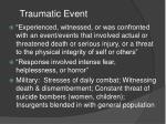 traumatic event