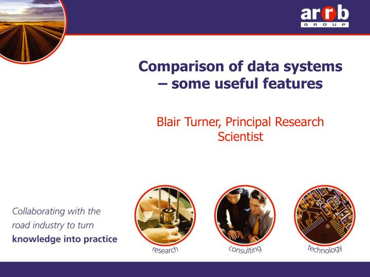 comparison of data systems some useful features n.