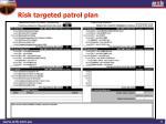 risk targeted patrol plan