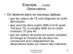 exemple suite observations
