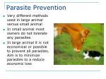 parasite prevention