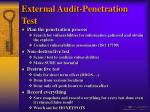 external audit penetration test