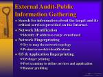 external audit public information gathering