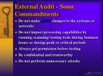external audit some commandments