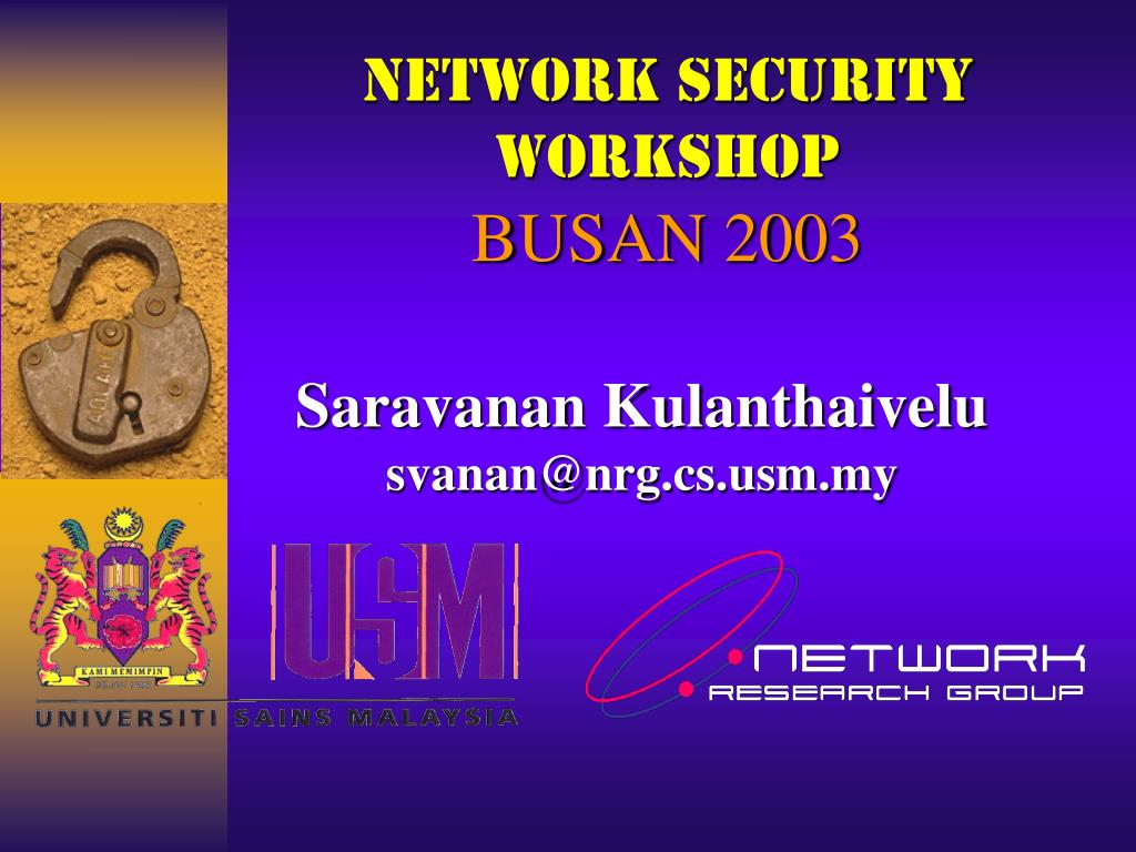 network security workshop busan 2003 l.