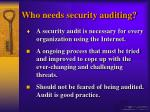 who needs security auditing