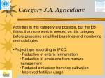 category 3 a agriculture