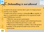 debundling is not allowed