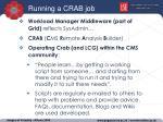 running a crab job