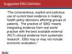 suggested ebg definition