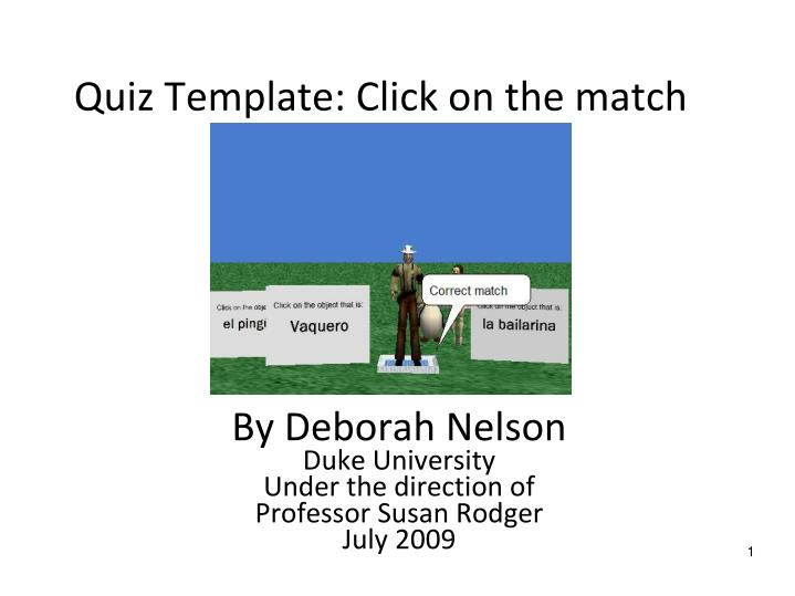 quiz template click on the match n.