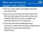 what are commercial support units csu