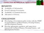 expected benefits challenges