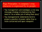 page principles a company s true character is expressed by its people