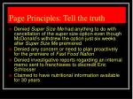 page principles tell the truth