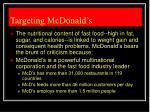 targeting mcdonald s