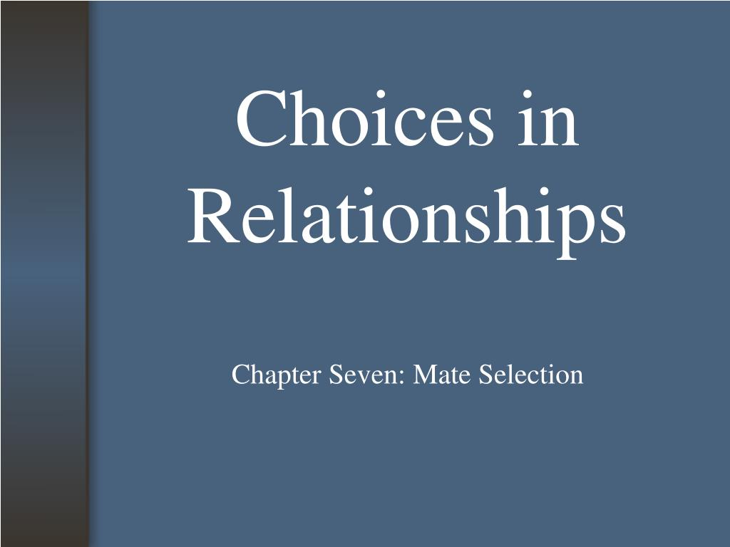choices in relationships l.