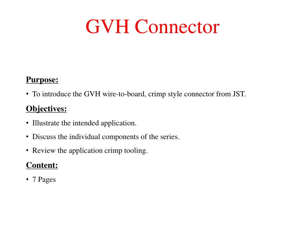 gvh connector l.