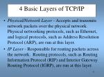 4 basic layers of tcp ip