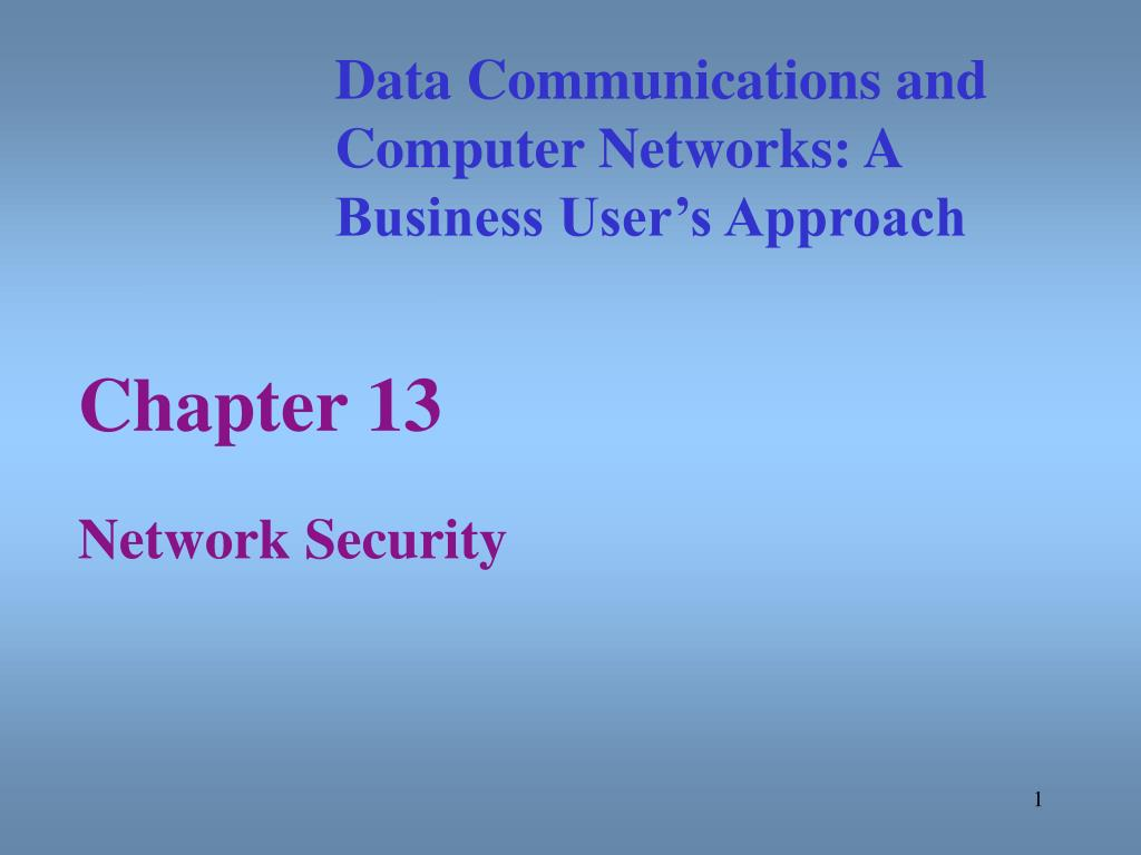 chapter 13 network security l.