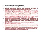 character recognition