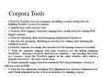 corpora tools