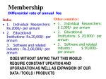membership differential rate of annual fee