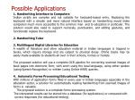 possible applications29