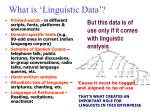 what is linguistic data