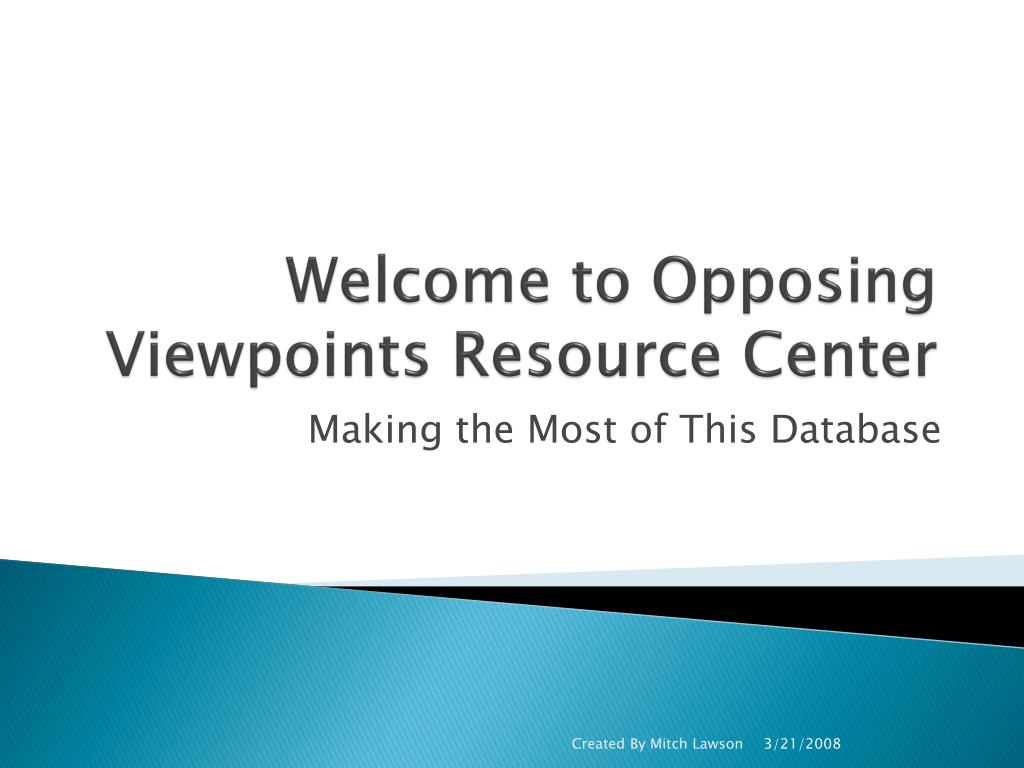 welcome to opposing viewpoints resource center l.